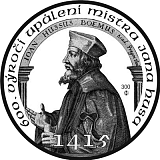 Bullion silver coin, 600 years of execution of Jan Hus 1415 - 2015