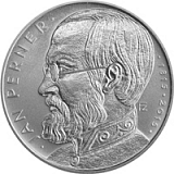 Commemorative silver coin, 200CZK 200th anniversary of birth of engineer Jan Perner proof