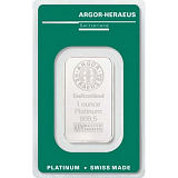 Platinum bar, Argor Heraeus 1 oz