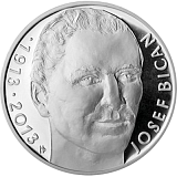 Commemorative silver coin, 200CZK 100th anniversary of birth of footballer Josef Bican proof