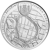 Commemorative silver coin, 200CZK 750th anniversary of foundation of České Budějovice stand