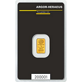 Gold bar, Argor Heraeus 1 g