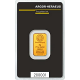 Gold bar, Argor Heraeus 5 g