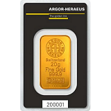 Gold bar, Argor Heraeus 20 g