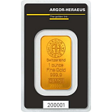Gold bar, Argor Heraeus 1 oz