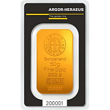Gold bar, Argor Heraeus 50 g
