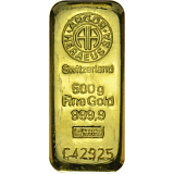 Gold bar, Argor Heraeus 500 g