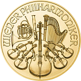 Gold bullion coin 100EUR Austria Philharmonic 1 oz